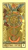 The Wheel of Fortune from the Tarot d'Argolance